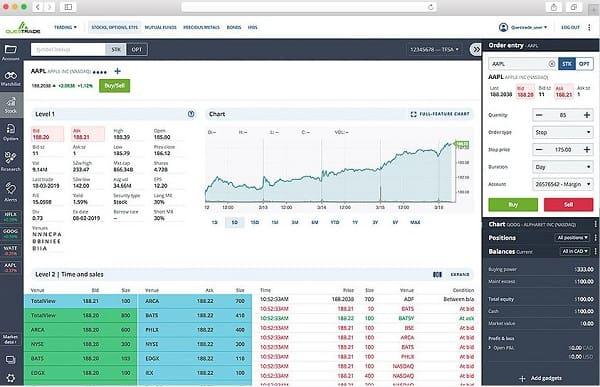 Questrade Trading app