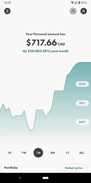 Wealthsimple Trade interface
